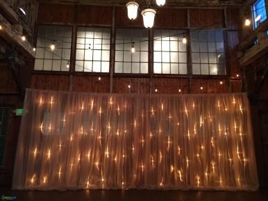 String lighting at SoDo Park by GreenLight Events
