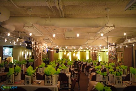 String lighting at Starbucks headquarters by GreenLight Events
