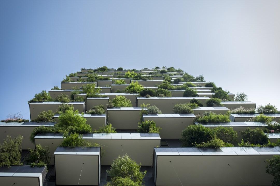 Balcones of a greenbuilding