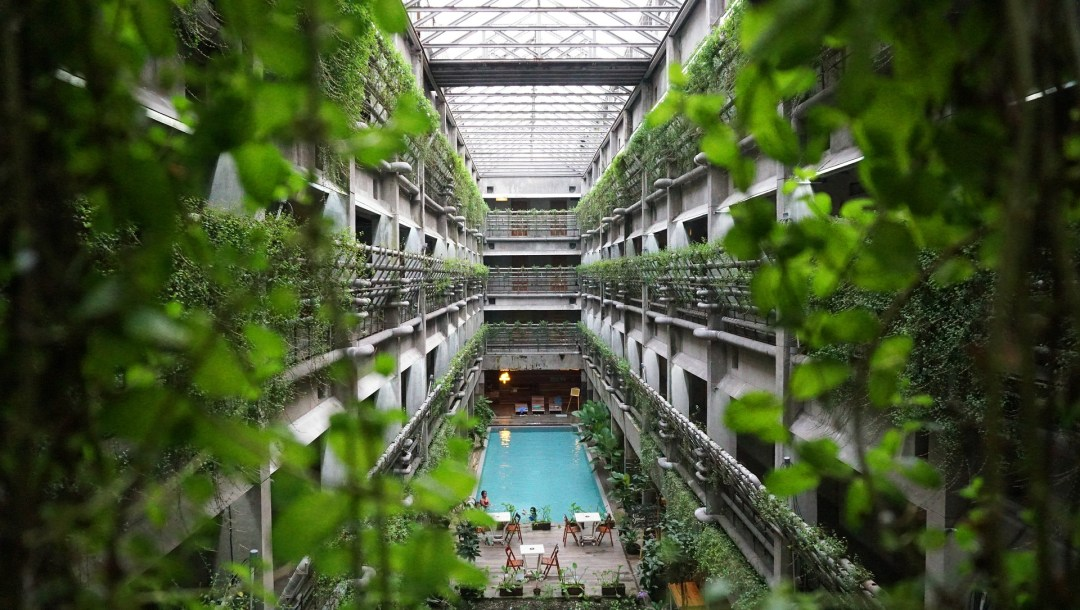 Sustainable building works in hotel