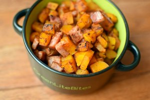 5-Ingredient Fall Butternut Ham Skillet