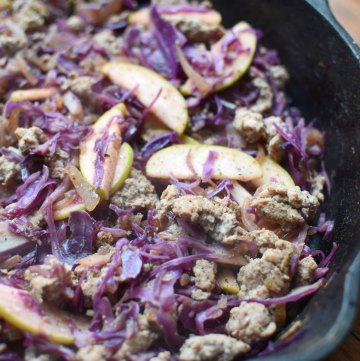 Ground Turkey with Red Cabbage and Apple portrait