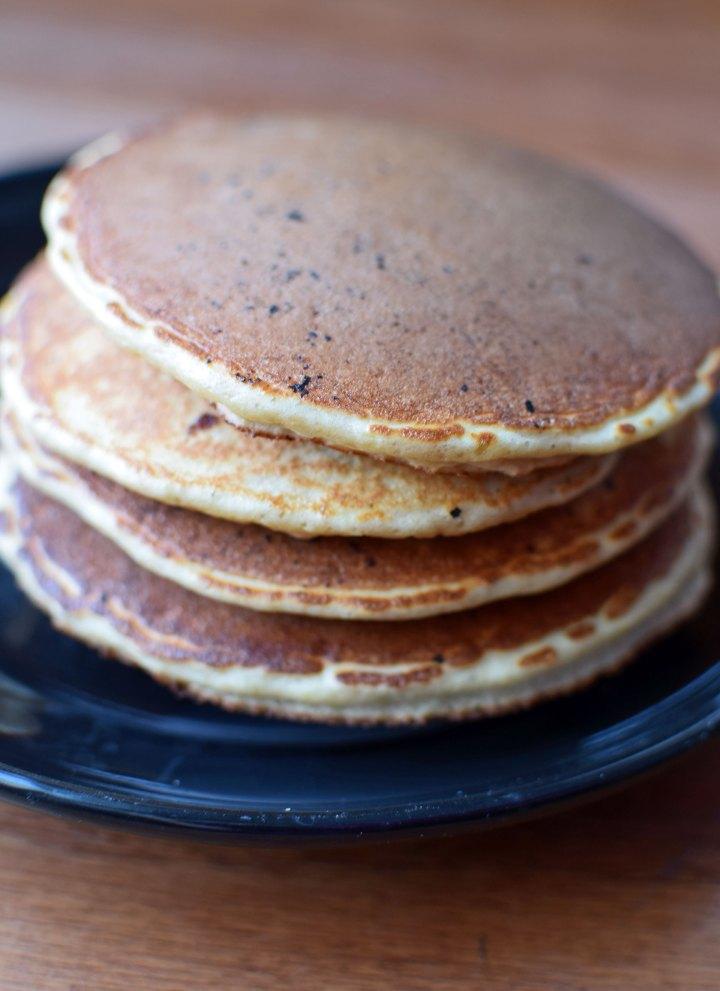 Banana Protein Pancakes Portrait