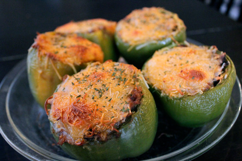 Sante Fe Style Chicken Portrait stuffed peppers