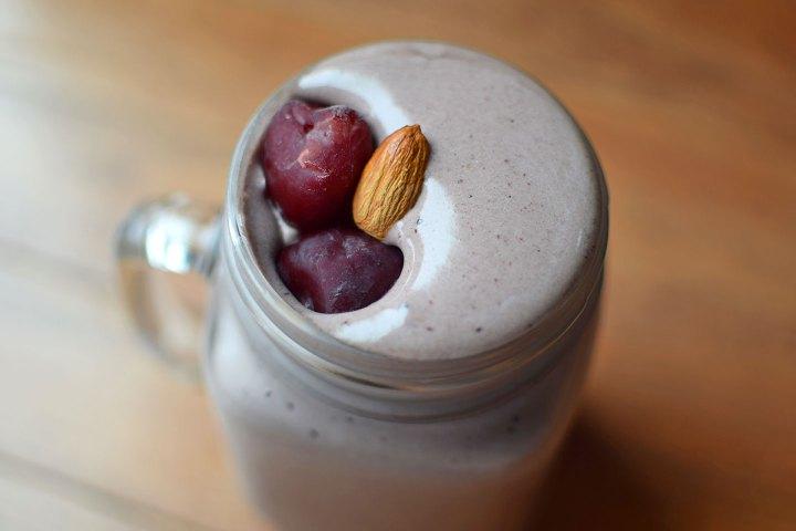 Sweet Cherry Almond Protein Smoothie