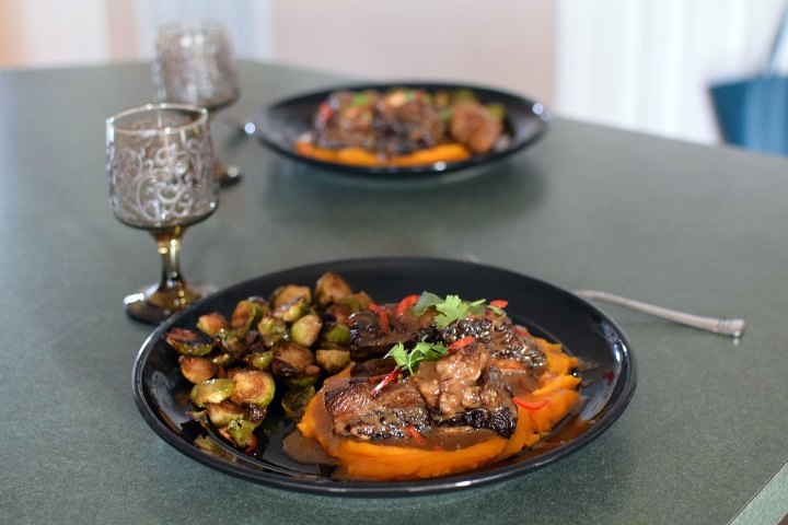 Asian-Inspired Short Ribs - complete