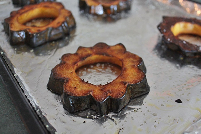 finished acorn squash ring