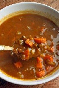 Vegetarian Lentil Soup With Pumpkin Portrait