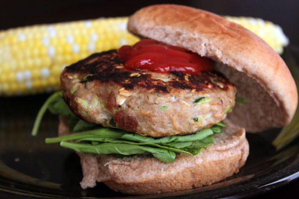 Bacon Cheese Inside-Out Turkey Burger - newer