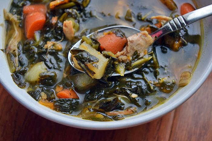 #Whole30 Kale Potato Chicken Soup