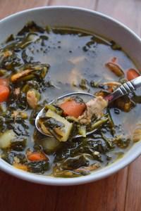#Whole30 Kale Potato Chicken Soup - Portrait