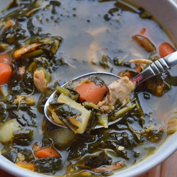 #Whole30 Kale Potato Chicken Soup - Portrait