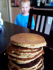 Quick Whole Grain Banana Pancakes 2