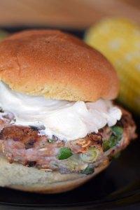Jalapeño Popper Inspired Turkey Burgers Portrait