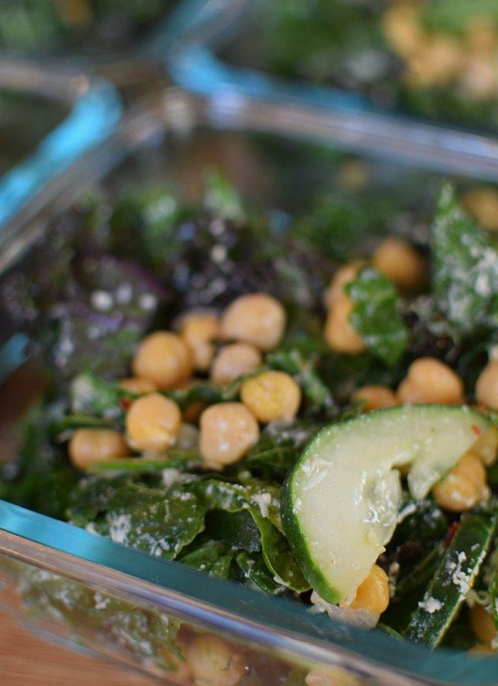 Kale, Cucumber and Chickpea Salad - portrait