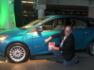 Green Living Guy with the book Build Your Own Electric Vehicle