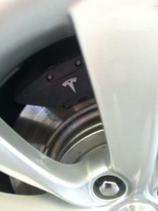 Tesla Motors brakes include regenerative braking