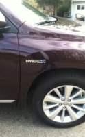 Passenger side Toyota Highlander hybrid