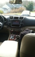 Back seat view of front seats Toyota Highlander Hybrid Electric Limited Edition 2013