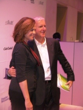 Seth Leitman and Green Living Guy Productions Green Lighting book held by James Cameron with Sigourney Weaver