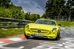 Front view of Mercedes AMG electric