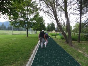 Artist's rendition of bike path with Solar Road Panels  Graphic artist: Katherine Simons