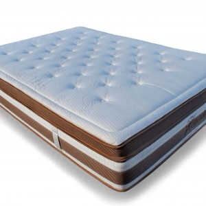"""""""We only used the best materials for a luxurious experience with Cashmere, Bamboo, our signature Visco Soy all incorporated into this memory foam mattress that has zero springs,"""" said Eduardo Bautista, co-founder"""