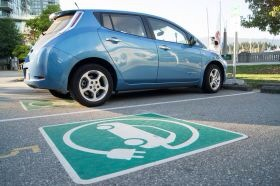 Nissan Leaf electric car in California