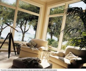 Andersen® Energy Efficient 400 Series Picture and Transom Windows  These Andersen 400 Series Picture and transom windows located in Hilton Head, South Carolina, feature Andersen Stormwatch® protection. Built with rich natural wood interiors with low-maintenance exteriors. The High-Performance™ SmartSun® glass helps protect your furniture, carpets and drapes by blocking out 95 percent of the damaging ultraviolet rays that can cause fading and it can be instrumental in reducing energy consumption.   Andersen Advantage We publish standard energy-efficiency performance ratings on almost all our products. Homes with Andersen windows and doors can dramatically reduce their heating and cooling costs.   To find out more about the Federal Energy tax credit and qualifying Andersen products, visit www.andersenwindows.com/taxcredit
