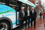 Mayor Greg Fischer joined TARC and other local officials today at the Louisville Slugger Museum to kick off the start of ZeroBus service in downtown Louisville.
