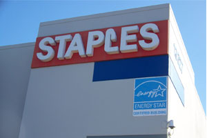 Staples stores use glee energy Star and solar power too