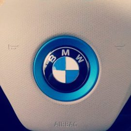 BMW i3 Electric Car steering wheel