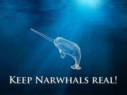 Keep narwhals real!