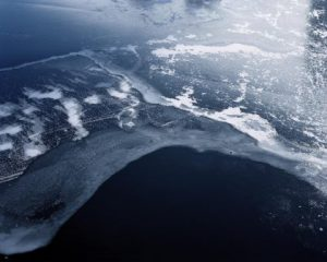 water after borders art using Pierotti Lake