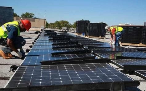 Sustainable and green solar panels
