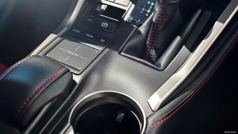 2015 Lexus NX 300h hybrid electric car interior console