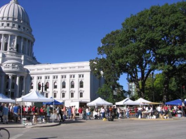 Dane County Farmers' Market, Madison, WI: attribution: By Kznf - Own work, Public Domain, https://commons.wikimedia.org/w/index.php?curid=2795390