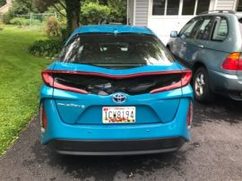 Toyota Prius Prime Plugin hybrid electric car