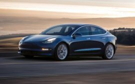 Tesla Model 3 Electric Car and Panasonic