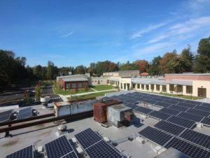 """For Tarrytown JCC leadership, the decision to go solar was also an easy one to make. For they """"saw solar power as a way to accomplish a number of things at once,"""" said Rabbi Andrew Ergas, Executive Director of JCC."""