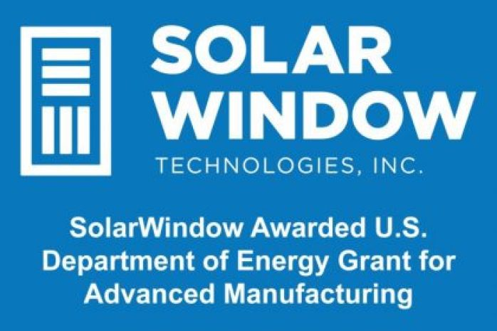 SolarWindow Awarded U.S. Department of Energy Grant for Advanced Manufacturing