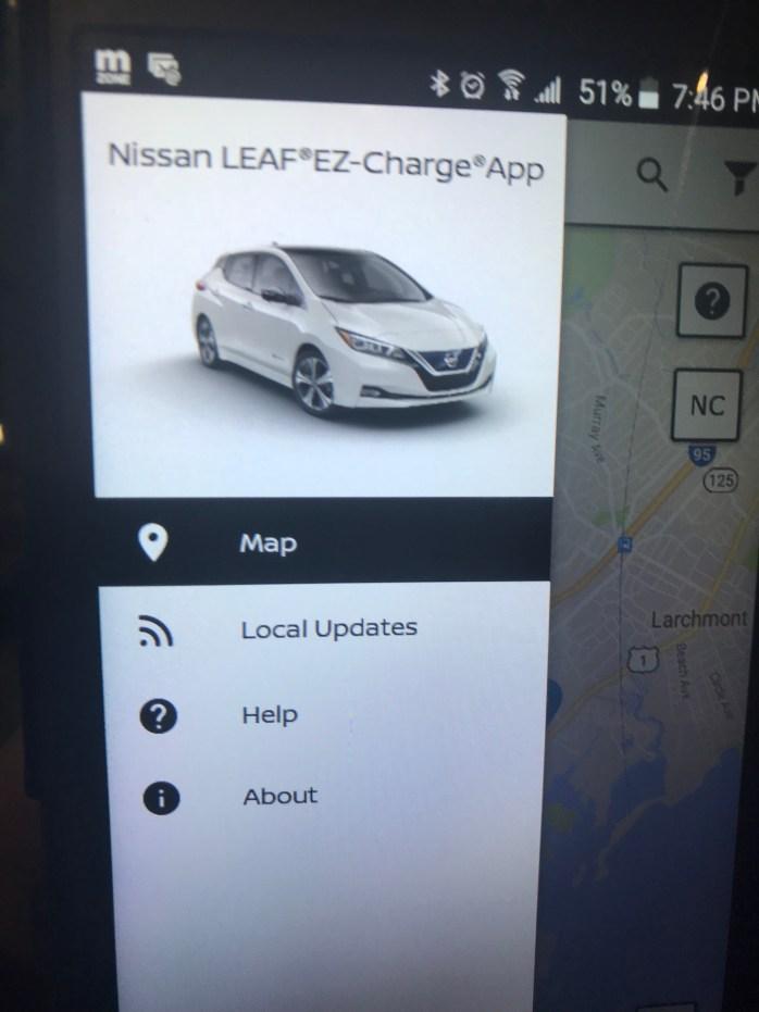 Nissan Leaf digital dash 2018