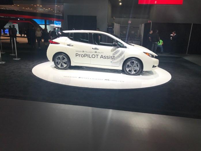 Nissan Leaf at NYIAS, New York international auto show