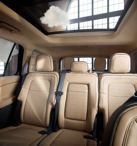 Inside, Aviator's spacious, Plugin hybrid electric, airy cabin accentuates