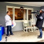 Talking about recycling for TV segment with NYCMedia