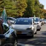SUNY New Paltz EV parade
