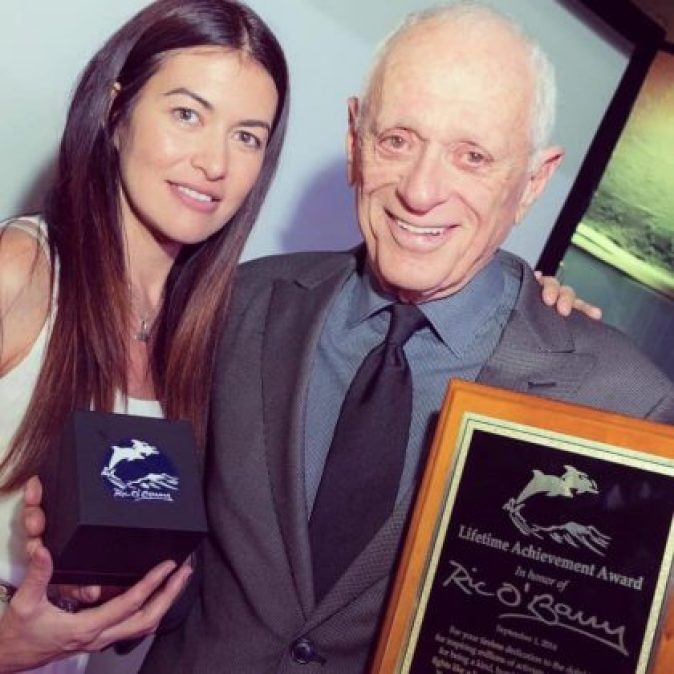 Leilani Münter with Ric O'Barry