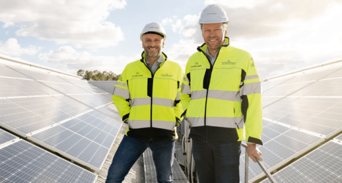 Pernod Ricard Winemakers Operations Director Australia Robert Taddeo (left) and Chief Operations Officer Brett McKinnon. Picture: Ben McPherson.
