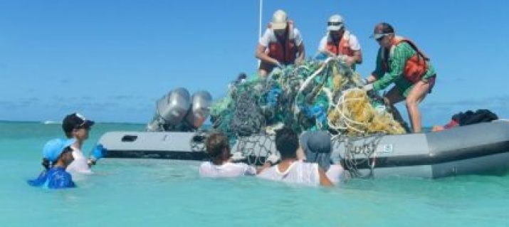 OceanCleanup at Great Pacific Garbage Patch