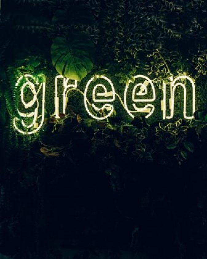 Green like vegan and cruelty free